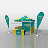 Fancy Promotional Table Banner Cheap Exhibition