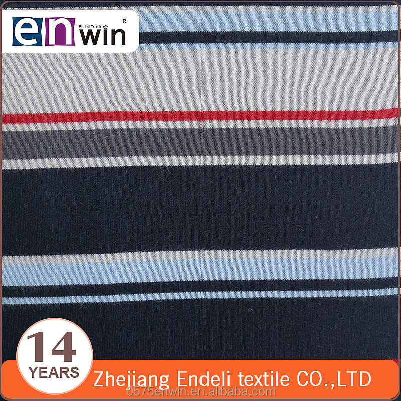 colorful pattern 100% cotton color-stripes single jersey fabric