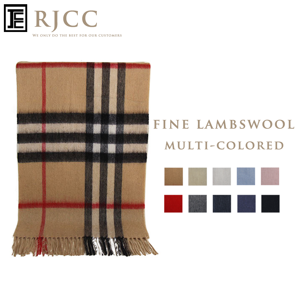 RJCC BIG CHECKED 100% Mongolian Lambswool <strong>Scarf</strong> for both Men and Women