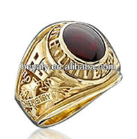 University custom made bachelor of science brown stone ring