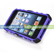 TPU with PC 2 in 1 combo case for iPhone 5, for iPhone5 back cover