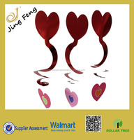 Hearth Shaped paper swirl hanging Valentine decorations