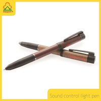 YES Novelty and Ballpoint Pen with voice control LED light LOGO can as business gift or Souvenir