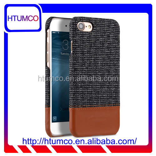 "New Knit Fabric Snap Cover Premium Leather Case for Apple iPhone 7 (4.7"")"