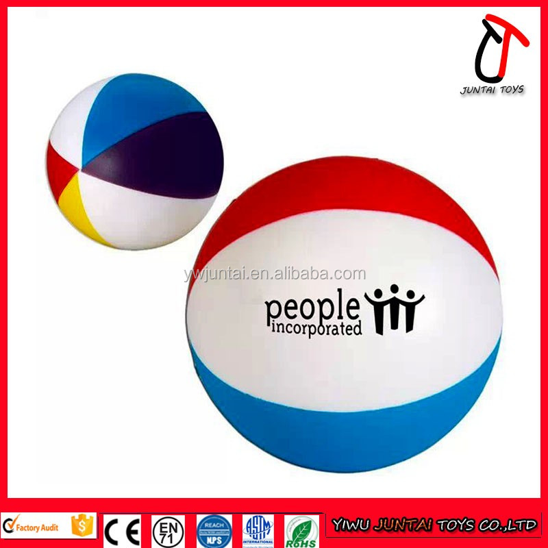Customize the rainbow colored inflatable beach ball with logo printing