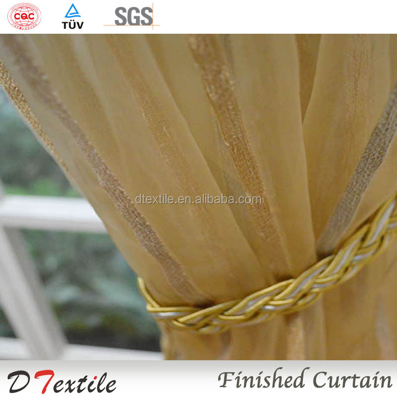Good design and nice hot selling customized finish yarn curtain of voile fabric for window
