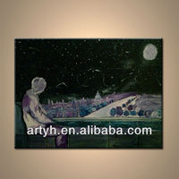 Night Scenery Painting Wall Picture