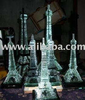 Kerajinan Menara Kaca Glass Tower crafts