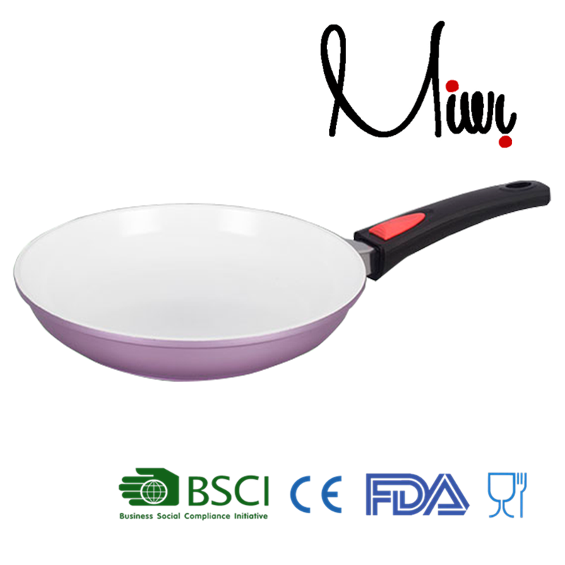 26CM Diecast Aluminum Pink Ceramic frying plate pan cookware kitchen cook