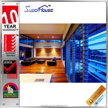 AS2047 standard security adjustable glass louvres frame system windows