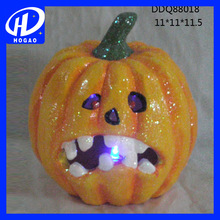 Handmade ceramic porcelain craft ceramic led pumpkin for home decora