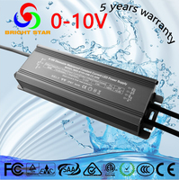 0-10V dimmable constant current led controller waterproof 80w led driver with 5 years warranty