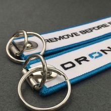 promotional gifts embroidered keychain key chain luggage tags