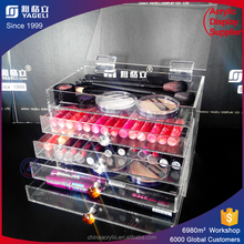 Desktop plexiglass 6 drawer acrylic makeup organizer for sale