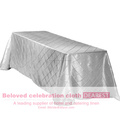 Taffeta pintuck table cloth,Taffeta table cloth,rectangle pintuck table cloth