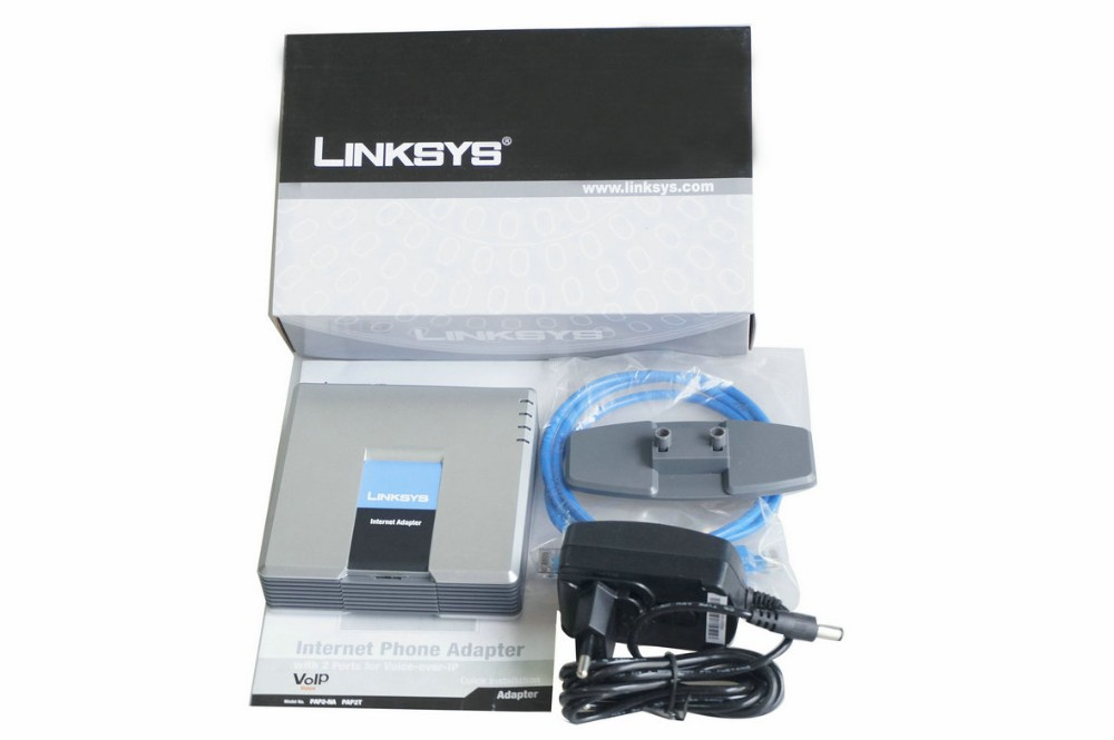 With best price Unlocked VoIP Linksys ATA / voip phone adapter/Linksys PAP2T