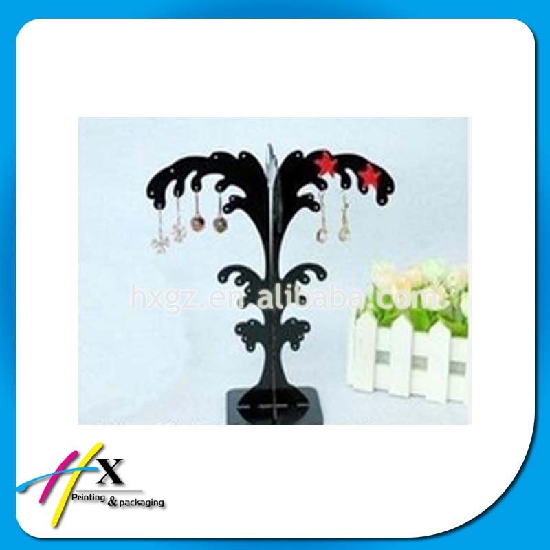 2015 newest products small jewelry display stand tree shape earrings acrylic showcase