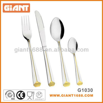 Gold Plated Stainless Steel Cutlery SS18/0 18/10