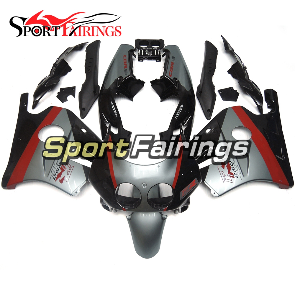 Motorcycle Injection ABS Black Silver Red Fairing Kits For Honda CBR250RR MC22 90-94 CBR250 1990 1991 1992 1993 1994 Fairings