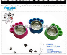New 2016 online shopping dog cat pet China supplier Foot Shape Cat Food bowl