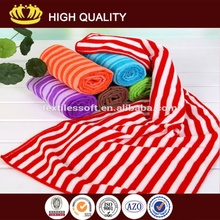 sunny enjoyment!100%cotton printed beach towel with colorful stripe