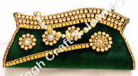 Designs velvet Clutch Purse-Designer Hand clutch-Beaded Clutch Purse-Wholesale Bollywood fashion hand purse-velvet stone work
