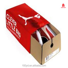 Custom Design red color CYMK famous logo Printed Cardboard Paper Shoe Box shipping