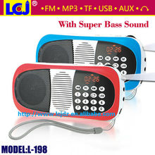 L-198 portable mini scooter FM radio with MP3 motorcycle