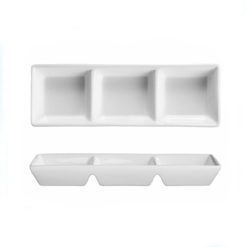 Rectangular high quality 3 Compartment Dipping Tray