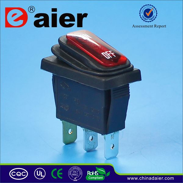 Daier lighted 120v rocker switch