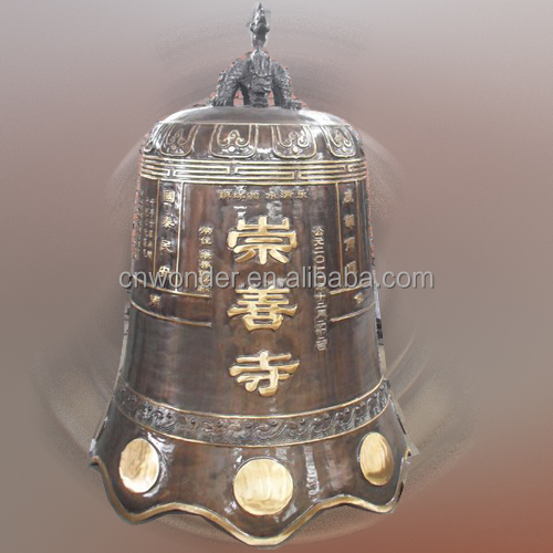 Large temple bell, Buddha hospital bell, outdoor clock