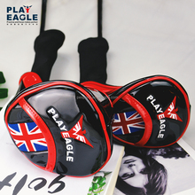 Customize Wood 1357 Pu Leather Golf Cover Golf Club Headcovers with Embroidery Logo Knitted Golf Driver club Covers