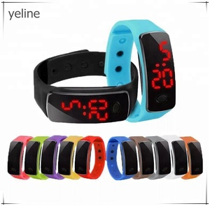 Children silicone electronic led screen hand watch