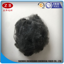 black raw material pet fiber recycled polyester staple fiber