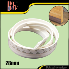 28mm x 1M Self Adhesive Wooden Aluminum Glass Door Bottom Drop Seals Windproof Sealing Strip Tape Silicone Rubber weatherstrip