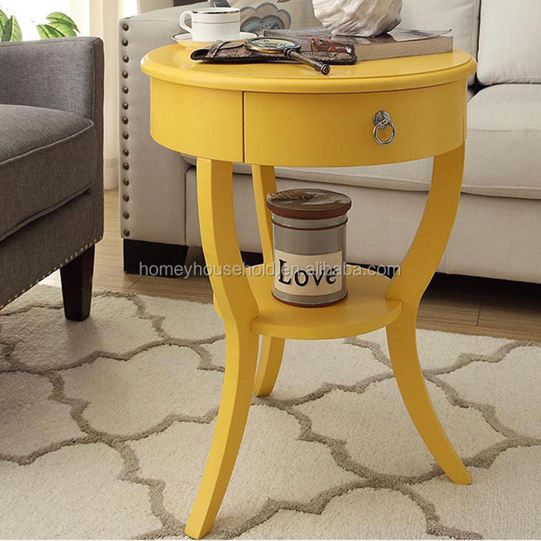 KD wood round painted living room furinture coffee table
