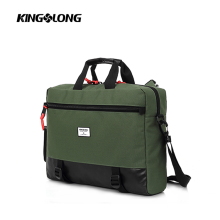 New design handbags satchel style green color laptop backpack supplier sling bag for men