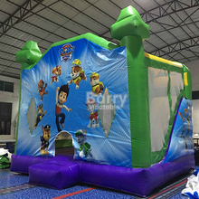 commercial 4 in 1, 5 in1 combo, inflatable moonwalk bouncy castles for kids