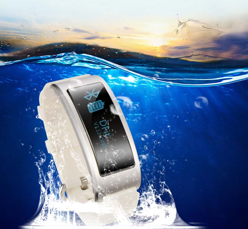 OLED screen Heart rate test life waterproof Alarm clock remind health wristband best fitness wristband