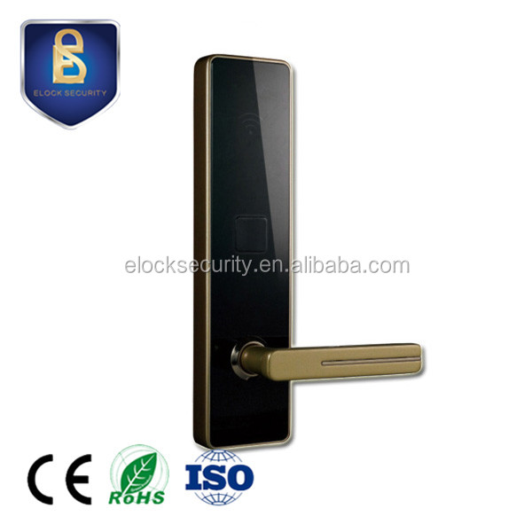 CE approved hotel door lock system price, hotel card lock management software