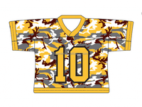 100% polyester camo design digital printing lacrosse jerseys
