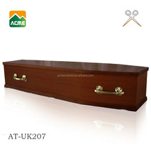 hot sell wholesale best price pecan coffin funeral wood coffin
