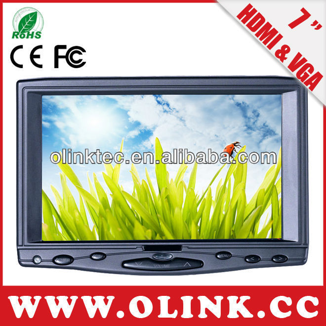 7 inch TFT LCD 800*480 with resistive touch screen hdmi led monitor