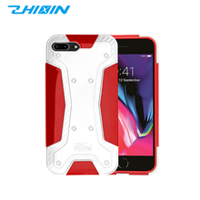 Mobile phone accessories luxury two layer armor hybrid cell phone case for iphone