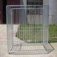 Large Style Galvanized Constructed Of Square tube With Vertical Bars Steel Dog Kennel