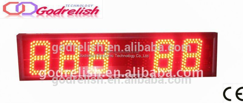 Plastic outdoor digital led clock made in China