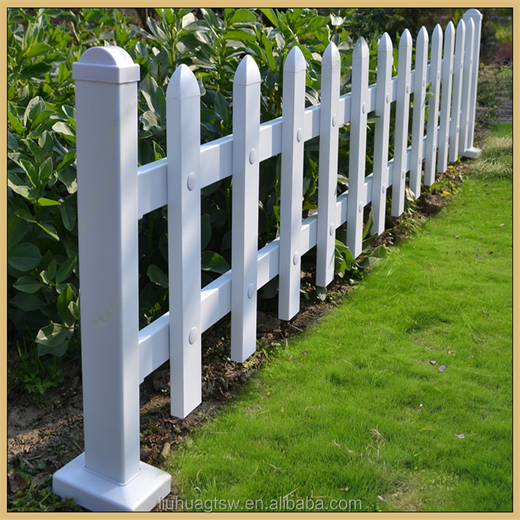 Beautiful and goos shape outdoor pvc plastic steel garden edging fence