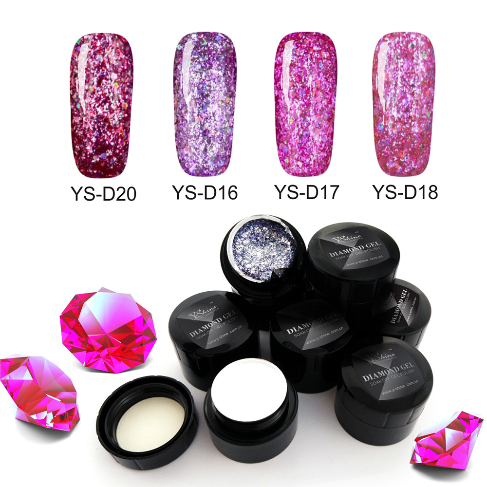 new nails supplies glitter diamond <strong>gel</strong> 24 colors soak off uv <strong>gel</strong> <strong>gel</strong> nail polish