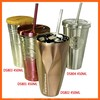 Cool thermos heat resistant coffee mugs and tumblers with straw wholesale