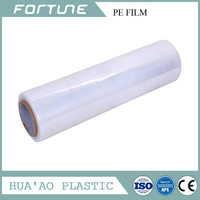 protection pe shrink film clear food grade pe stretch film for food wrap